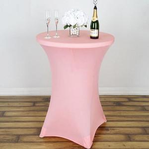 الجملة دنة كوكتيل الإمتداد الغلاف المائدة المستديرة مفرش لحجم القماش ديكور حفل زفاف الجدول 80 * 110CM مفرش المائدة