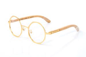 cadre octogonal trois ongles courts pieds en matériel bambou or argent longueur Gap Cerclée montures de lunettes de concepteur de lunettes de soleil de marque