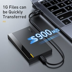 Nouveau produit disque dur SATA 2,5 cas à l'USB 3.0 Adaptateur cas du disque dur HDD SSD pour cas de type C 3.1 HDD Box HD externe C