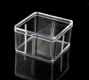 Platz Plastikkasten 9.5 * 9,5 cm für kleine Accessoires transparente PVC-Verpackungs-Boxen mit Deckel Container SN4461