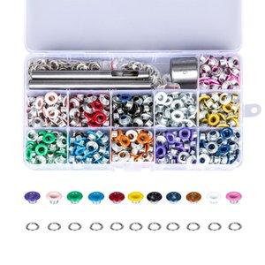 503Pcs multi coloré 5Mm Métal Diamètre Oeillet Buckles Diy remplacement en cuir Craft Outils de montage Rivets Couture Fournitures aOXvD