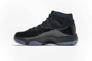 2019 New Release 11 Cap and Gown 378037-005 Number 45 23 Man 11S Black White Basketball Shoes Real Carbon Fiber Sneakers With OG Box