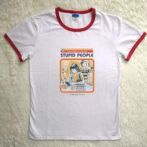 Hillbilly J-816 Sweatshirt saves the world's scientific creative print ladies autumn Hoodies ladies personality white t-shirt