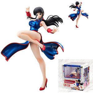 Dragon Ball Z Bleu cheongsam CHICHI Filles Ver.III Figurine Collection modèle jouets pour enfants Dragonball Anime Manga poupée LOL