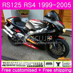 RS125R For Aprilia RS 125 1999 2000 2001 2002 2003 2005 40HM.12 RSV125R RS4 RS-125 RSV125 R RS125 99 00 01 02 03 04 05 Fairing Matte silver
