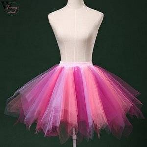 7 Colors Womens Ladies High Quality Pleated Gauze Short Skirt Adult Tutu For Wedding Bridal Vintage Women Gown Jan25