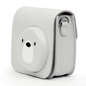 Ouhaobin Camera Case Bag For Fujifilm Instax Mini 8 8+ 9 Camera Cute Camera Bag PU Leather Protective Cover With Shoulder Strap