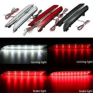 Freeshipping 2Pcs 24 LED Rear Bumper Reflector Tail Brake Stop Running Turning Light Fog Lamp For Honda CR-Z CR-V
