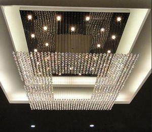 새로운 뜨거운 디자인 수정 같은 펜던트 램프 정착물은 큰 현대 결정 샹들리에 호텔 로비를지도했다 샹들리에 점화 L150 * W150CM를지도했다