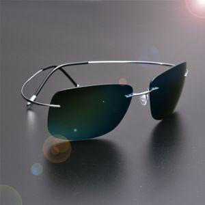 333 Screwless Frameless Ultra Light Hingeless Sunglasses Rimless Pure Titanium High Quality Polarized Sunglasses Red Pink Red