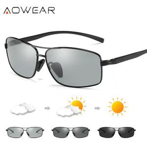 Yeni Varış Aowear Fotokromik Bukalemun Polarize Güneş Erkekler Marka Tasarımcısı Değişim Renk Lens Sürüş Gafas ulculos De Sol Y19052004