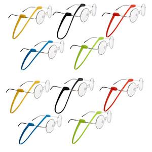 Chaînes de lunettes en silicone Lunettes de soleil Solide Couleur ANTIDÉRAPANTES Bracelet sport bande support de cordon pour les femmes des hommes des yeux Accessoires