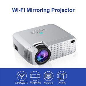 Smart 4k Mini Projecteur portable pour téléphone portable Led Projecteur D40W connexion WiFi HD Projecteurs Livraison gratuite par DHL