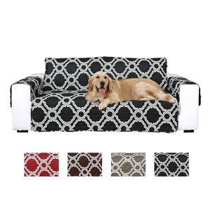 Геометрический стеганый диван Чехол-кровать Диван Чехол-кресло Защитная мебель для животных, кошек, собак
