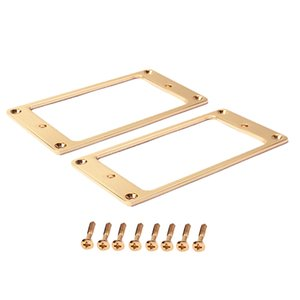 2 Stück Stahl Humbucker Pickup Ring Set Bottom Rahmen für LP Les Paul Gitarre