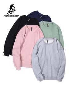Pioneer Camp Casual Düz Hoodie Erkekler Çok renkli Büyük Boy Siyah Tişörtü 6 Katı Renk Gevşek Erkekler Kazak AWY908049