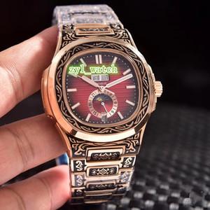 Vintage Boutique Hombres de tallado reloj de la manera superior de acero inoxidable caliente del reloj mecánico automático impermeable de los relojes deportivos