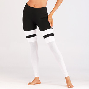 2019 Fitness Yoga Sports Leggings Womens Mesh Splice Yoga Skinny Gym Gym Leggings Fitness Sports Pantalones