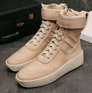 ssYEzZYYEzZYs v2 350boost FEAR OF GOD Military High-Top Outdoor Boots Sneakers Black Suede Gum Grey Nubuck Boot Fog Jerr