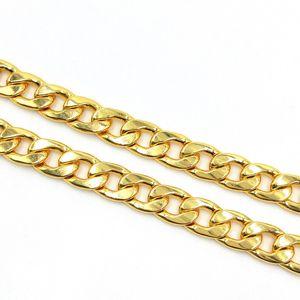 USENSET 11 mm Edelstahl 18 Karat vergoldet kubanischen Curb Dog Pet oder Cat Link Chain Collar Pet Supplies