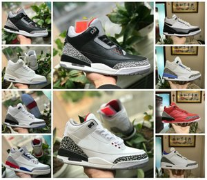 2020 nuevos zapatos de 3s blanco puro 3 de baloncesto del Mens Nueva NRG Seúl Tinker Katrina JTH tiros libres Cemento Linell Chicago OG Negro Aire Tn zapatillas de deporte