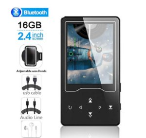 NEW Reproductor MP4 Bluetooth4.2 MP3 reproductor de música 16GB con pantalla grande de 24 pulgadas, reproductor de Video MP4 compatible con