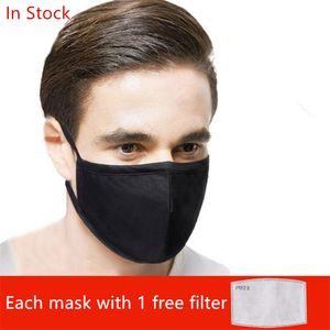 boca de algodão PM2.5 máscara preta máscara ativado filtro anti poeira de carbono bactérias Windproof Boca-de mufla prova Máscaras Cuidados 30pcs