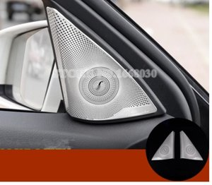 Porta Do Carro Fosco Áudio Speaker Cover Guarnição 2 pcs Para Mercedes Benz Classe C W204 S204 2008-2013