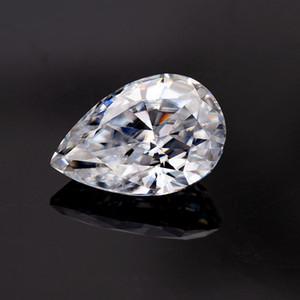 белый цвет 10 * 15 мм груши вырезать синтетическое Муассанят рыхлое алмазное GEMSTONES оптовых цены для изготовления ювелирных изделий