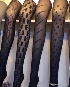 Negro transparente atractivo Medias Europa y América marea de la moda Logo mujeres ajustados calcetines de seda del gancho Prevenir Panti
