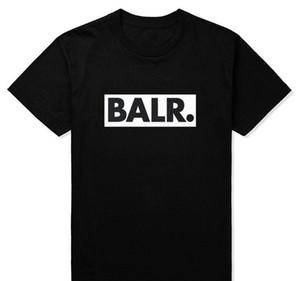 Yaz Avrupa ve Amerika Sokak BALR [Çerçeveli] Kısa kollu Tişört Tops