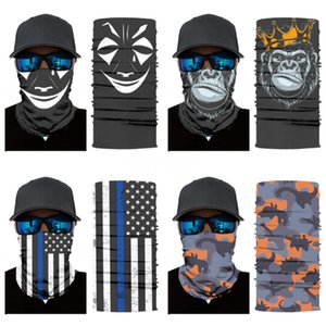 Head Band Wrap Decorative Camping Accessories Unisex Windproof Cycling Headwear Magic Skull Scarf Mask Warm Outdoor Sports Fashion#148