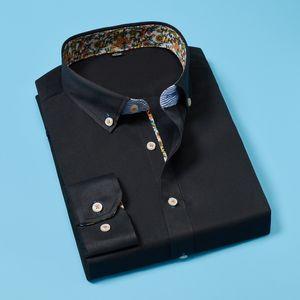Neue Art und Weise Männer Slim Fit Männer Langarm-Shirt klassisch Männer Shirts Formal Geschäfts-Hemd Asiatische Größe