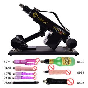 Versão atualizada Sex Machine Gun Empurrador Automático Máquinas de Máquina de Amor com 8 Acessórios Sex Fruniture para Casais E5-1-84