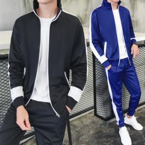 Neuer Frühling der Herbst-Männer Sportanzug Herrenbekleidung Anzug Teenager 3XL Set Pullover + Pant Sweatsuit 2 Stück Sport