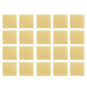 3D Brick Wallpaper, Gold Brick Pattern Wall Stickers, Self- Adhesive Wallpaper for Living Room Bedroom, 32 * 32cm