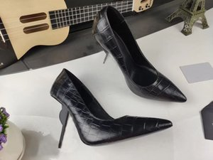 Scarpe Donna consegna gratuita di scarpe di marca famosa delle donne di modo 100% di cuoio da donna cucito Suit Scarpe Shopping banchetti col tacco alto 35-40