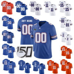 Florida Gators Jerseys Kyle Trask Jersey Aaron Hernandez Kadarius Toney Lamical Perine Tim Tebow College Football Jerseys Custom Stitched