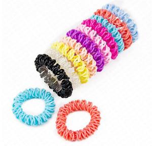 Teléfono Wire Cable Las vendas para las mujeres 5.5cm pelo elástico de goma plástica de cuerdas de pelo accesorios para el cabello anillo niñas D62801