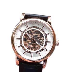 Luxury мужского дизайнера ремень ретро ремень подлинный мужской моды полый механические часы унисекс часы черного кристалл лицо с коробкой AR60007