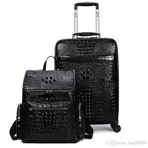 bavul taşıma onTravel Deri Rolling Bagaj Deri Seyahat Çantaları El Luggage2020Shipping KAPALI siyah brwon 1 1'lerin erkek basketbol ayakkabıları THRE