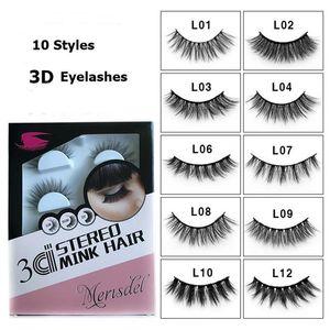 4 пар / Set Natural Ресницы 3D ресницы макияж глаз Длинные Толстые Ресницы 10 стилей ручной ресниц