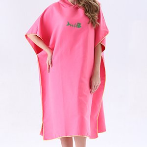 New Quick Drying Changing Robe Bath Towel Outdoor Adult Hooded Beach Towel Poncho Women Men Bathrobe Towels Swimsuit Cloak