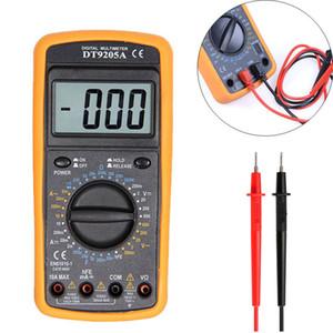1PCS LCD Multímetro Digital DT9205A AC / DC amperímetro atual Resistência Tensão de capacitância Volt Amp medidor Ohm com Tester Probe
