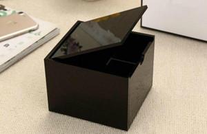 Nuova scatola di immagazzinaggio del cotone acrilico di alta qualità classica 2019 cosmetica multifunzionale Tampone di cotone famoso di immagazzinaggio con la scatola del segno