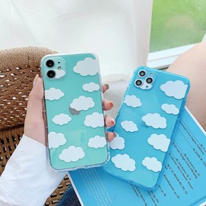 Fashion Blue sky and white clouds Phone Case for iPhone 11 Pro XS MAX XR X 12 8 7Plus Soft TPU phone cases