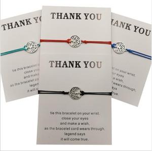 2020 pulseras Wish encanto hermosas con la tarjeta regalo Muchachas Amistad infinito ajustable Wrap brazalete para las mujeres joyería inspirada