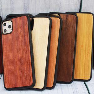ل iphone 11 pro wood Phone case 7 8 Plus XS Max XS Mobile Cover Shock Against antiskid phone shell
