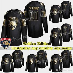 2019 Florida Panthers Golden Edition 72 Sergei Bobrovsky 1 Luongo 16 Aleksander rkov 5 Ekblad özelleştirme herhangi bir sayı herhangi bir ad hokey formaları