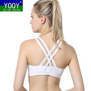 Sportswear & Accessories Sports Bras YOOY Sexy Yoga Bra Women Padded Sports Bra Shake Proof Running Workout Gym Top Tank Fitness Shirt